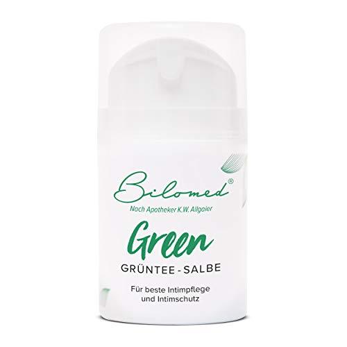 Bilomed Grüntee Intimpflege Creme - Hilft bei Trockenheit, Juckreiz und Brennen - Für einen...