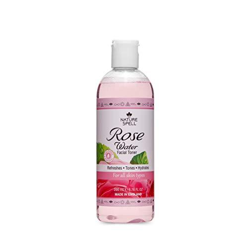 Nature Spell Reines Rosenwasser Gesichtswasser 200ml - Stellt den pH-Wert der Haut wieder her, für...