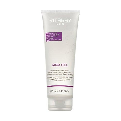 MSM-Gel Sensitive für Körper und Gesicht| ideal bei Unreinheiten, Pickeln und Mitessern - 250 ml