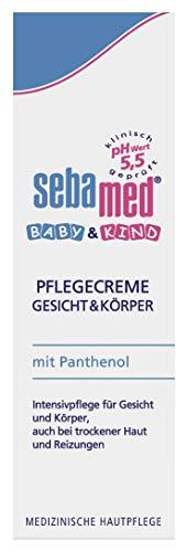 Sebamed Baby & Kind Pflegecreme Gesicht & Körper 75 ml, pflegt zarte Kinderhaut intensiv, auch bei...