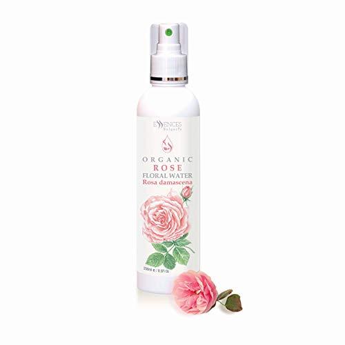 BIO-Rosenwasser (Rosa damscena) 100% naturrein (250ml) Rosen-Blütenwasser, Spitzenqualität aus dem...