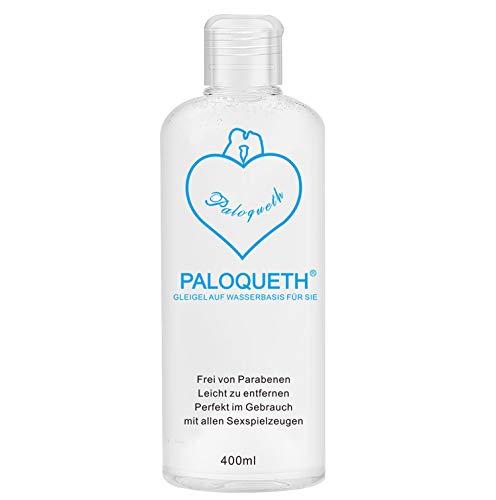 PALOQUETH Gleitgel auf Wasserbasis (400 ML), Premium Aqua Gleitmittel Sicher Langzeitwirkung Und...