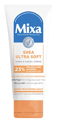 Mixa Shea Ultra Soft Hand & Nagelcreme - pflegender Handbalsam für trockene, rissige und raue...