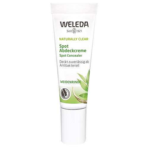 WELEDA Naturally Clear Spot Abdeckcreme, Naturkosmetik Abdeckstift bei Pickeln und Rötungen,...