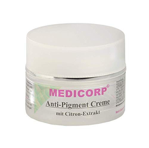 MEDICORP Pigmentcreme für Altersflecken und Sommersprossen, Flecken creme, Creme für dunkle...