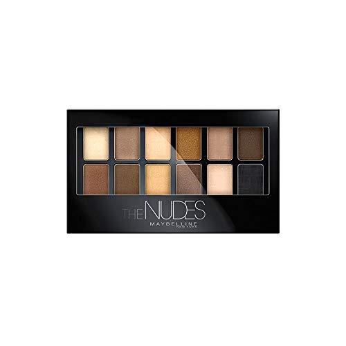 Maybelline The Nudes Lidschatten Palette, 12 Farben in einer Lidschattenpalette, sanfte und...