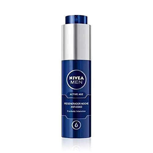 NIVEA MEN Active Age Regenerator Anti-Aging Nacht (1 x 50 ml), Nachtcreme für reife Haut des...