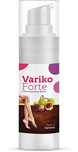 Variko Forte | Krampfadern Creme | Creme gegen Besenreiser (1 Flasche á 75 ml)