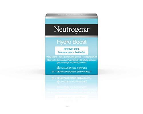 Neutrogena Hydro Boost Creme Gel, Feuchtigkeitscreme Gel mit Hyaluron Gel Komplex für 24H intensive...
