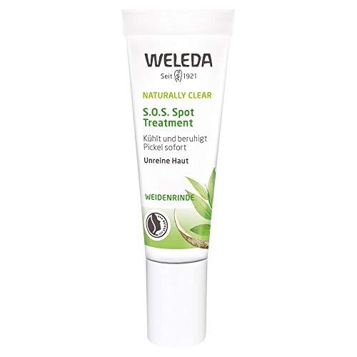 WELEDA Naturally Clear S.O.S Spot Treatment, Naturkosmetik zur Behandlung von Pickeln und Mitessern,...