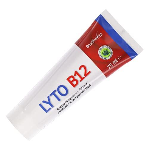 Bestprovita Lyto B12 Pflegecreme 75ml, bei Neurodermitis Juckreiz Schuppenflechte, Creme mit Vitamin...