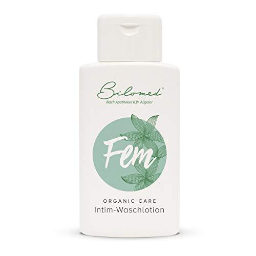 Bilomed Fem: Intimwaschlotion mit Milchsäure. Zur schonenden Reinigung und täglichen Intimbereich...