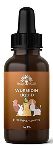 ADEMA NATURAL® WURMIDIN Liquid - Wurmmittel - Wurmkur Tropfen/Flüssig für Tiere - Hunde, Katzen,...
