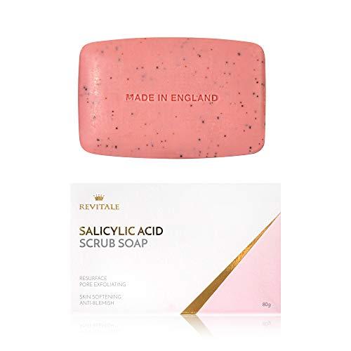 Salicylsäure Scrub Soap Pore Peeling, Akne bekämpfen, Haut weich werden, Anti-Blemish, entfernt...