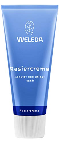 WELEDA Rasiercreme, Naturkosmetik Rasierschaum für die Pflege und den Schutz der Haut bei...