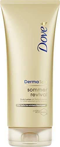Dove DermaSpa Body Lotion für helle bis mittlere Hauttypen Sommer Revival mit Cell-Moisturisers (1...