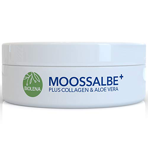 Biolena Moossalbe Plus – Mooscreme gegen Altersflecken (1 Tiegel je 100 ml) – Moossalbe...