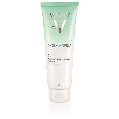 VICHY Normaderm 3 in 1 Peeling + Reinigungs-Creme + Maske, 125 ml Gel