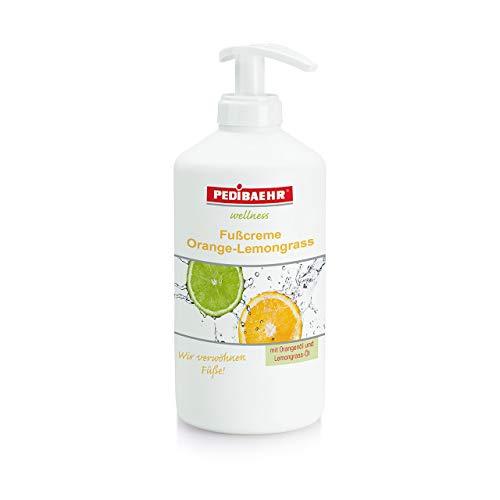 Fußcreme Orange- Lemongrass 500ml mit Spender Orangenöl und Lemongrass- Öl PediBaehr, 500 ml mit...