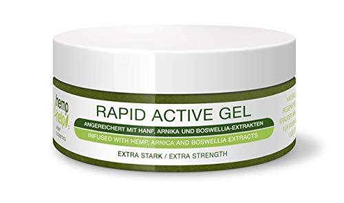 Hemp4Help® 200ml Hanf Active Rapid Gel 1er Pack bei Knie, Gelenk-, Nacken- u. Muskel-Schmerzen,...
