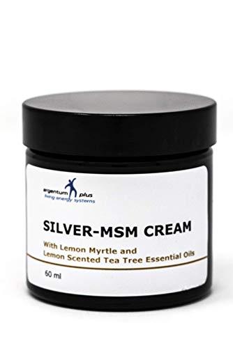 Silber-MSM Crème mit Zitronenmyrte und Zitronen Teebaum essentiellen Ölen - 60 ml