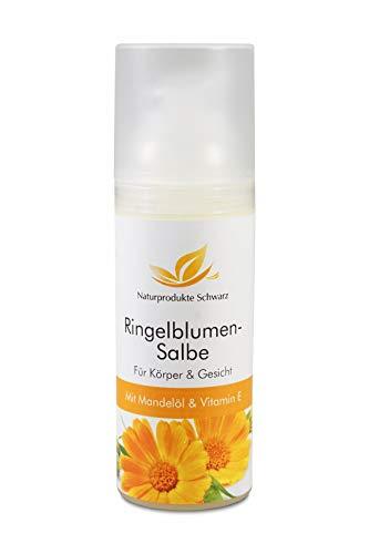 Naturprodukte Schwarz - Ringelblumensalbe mit Mandelöl und Vitamin A + E, 50ml
