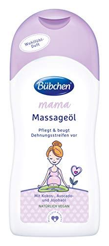 Bübchen Mama Massageöl, Körperöl gegen Denungsstreifen, mit Kokos-, Avocado- und Jojobaöl, (1 x...
