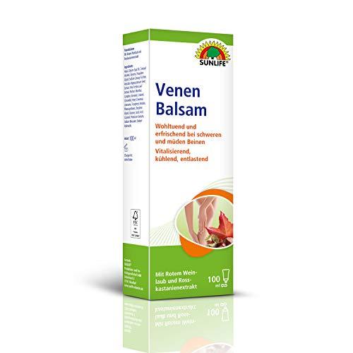 SUNLIFE Venen Balsam: Wohltuende Creme für müde und schwere Beine, rotes Weinlaub, Extrakt der...