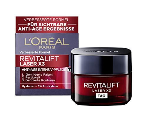 L'Oréal Paris Tagespflege, Revitalift Laser X3, Anti-Aging Tiefenpflege mit 3-fach Wirkung,...