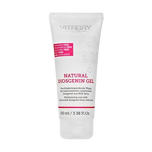 Vitabay Natural Diosgenin Gel (100 ml) • Vaginal Creme mit 64% Diosgenin & 80% Yamswurzel Extrakt...