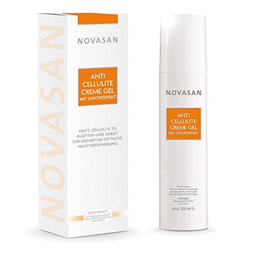 Novasan® ANTI CELLULITE CREME GEL MIT SOFORTEFFEKT • hochwertiges Körpergel zur effektiven...