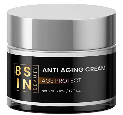 8 SIN - Anti-Aging Creme - Hyaluronsäure, Feuchtigkeitspflege für Gesicht und Augen, Gesichtscreme...