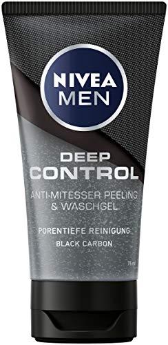 NIVEA MEN Deep Control Anti-Mitesser Peeling und Waschgel im 1er-Pack (1 x 75 ml),...
