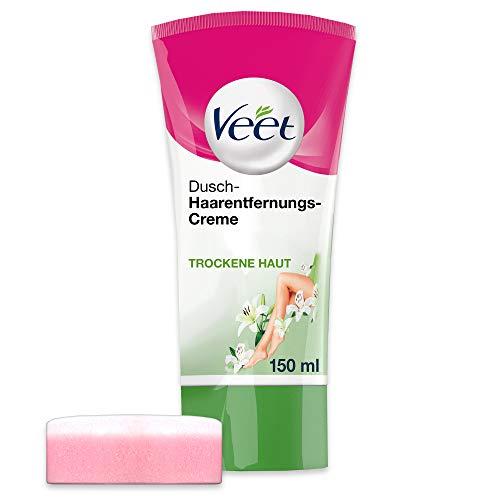 Veet Dusch-Haarentfernungscreme Silky Frech, Schnelle & Effektive Haarentfernung für unter der...