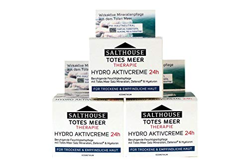 Totes Meer Therapie Hydro Aktivcreme 24h Salthouse 50ml, Menge:3er Pack