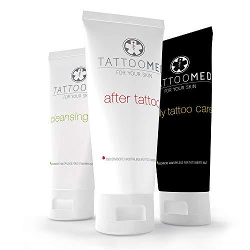 TattooMed Tattoo-Pflege Set, Medizinisches Hautpflegekomplettsystem für tätowierte Haut, 3er Pack...