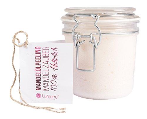 Deluxe 3-in-1 Creme Öl-Peeling MANDELZAUBER (500g), 100% natürliches Körper-Peeling mit Mandelöl...