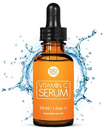 Das beste Vitamin C Serum für Ihr Gesicht mit 20% Vitamin C + Hyaluronsäure + Vitamin E +...