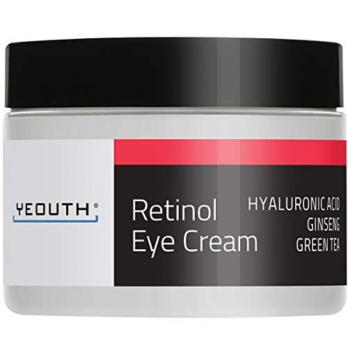Retinol Augencreme 2,5% von YEOUTH verstärkt mit Retinol, Hyaluronsäure, Koffein, Grüner Tee,...