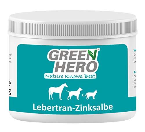 Green Hero Lebertran-Zinksalbe für Pferde Hunde und Katzen 500 g Zink Wundsalbe Pflegt die Haut bei...