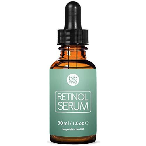 Bioniva Retinol Liposomen Liefersystem mit Vitamin C & Vegan Hyaluronsäure - Anti-Aging Lift Serum,...