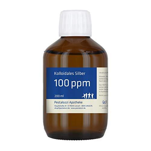 Kolloidales Silber 100ppm aus Apotheken-Herstellung - 100 % natürliches, kolloidales Silberwasser,...