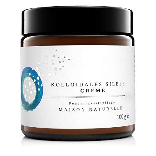 MAISON NATURELLE ® - Kolloidales Silber Creme (100 g) - VERGLEICHSSIEGER 2020 -natürliche...