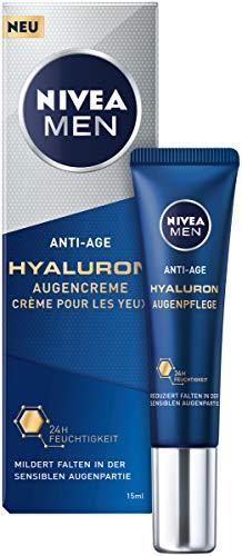 Nivea Men Anti-Age Hyaluron Augencreme (15 ml), Augenpflege reduziert Anzeichen von Müdigkeit,...
