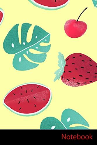 Notebook: Melon D'Eau, Feuilles, Fraise, Crème Glacée Carnet / Journal / Livre d'écriture /...