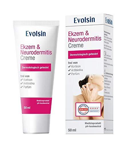 VERGLEICHSIEGER: Evolsin® Ekzem & Neurodermitis Creme I OHNE KORTISON I Lotion, Salbe für...