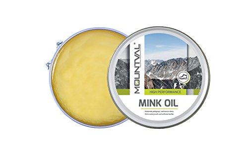 Mountval Mink Oil – Nerzöl/Lederöl & hochwertiges Lederfett/Schuhfett – Leder Öl Pflege,...