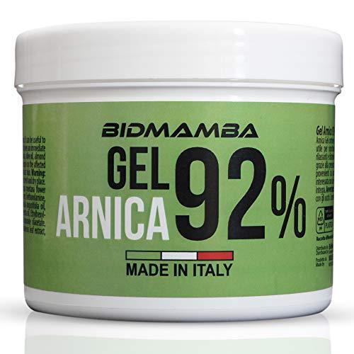 BidMamba Arnika-Gel 92% 500ml | Arnika Salbe Hochkonzentriert , Entzündungshemmende Salbe,...