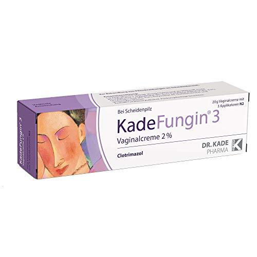 KadeFungin 3, Vaginalcreme gegen Scheidenpilz - mit 3 Applikatoren, ideal auch zur...