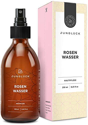 BIO Rosenwasser vegan | Natürliche Inhaltsstoffe | 250 ml Reinigung und Pflege für Gesicht,...